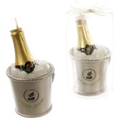 Champagne Bottle in Ice Bucket Candle