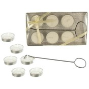 6 Pk Unscented Tea Light Candles w/ Wick Picker