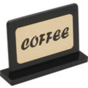 Black Base Sign Coffee