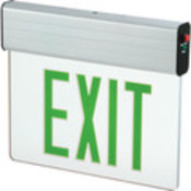 Sure-Lites Edge-Lit Green LED Exit Sign