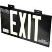 Glo Brite Single-Sided Exit Sign - Black