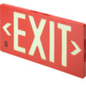 Glo Brite Single Sided Exit Sign - Red