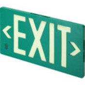 Glo Brite Single Sided Exit Sign - Green