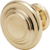 "1-1/4"" Decorative Cabinet Knob-Brass"