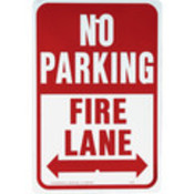 "Aluminum ""No Parking/Fire Lane"" Sign"