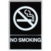 "Plastic Braille ""No Smoking"" Sign"