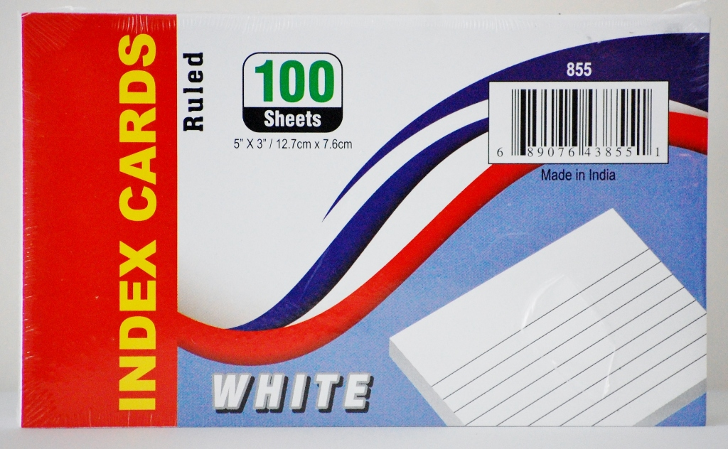 Ruled Index Cards- White (1853308)