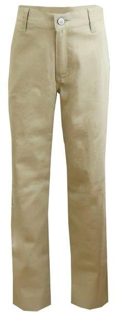 Girls' Khaki Stretch Straight Leg Pants - Size 12 [2269951]
