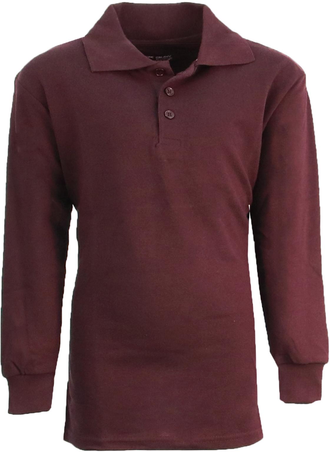 Wholesale boy 39 s burgundy long sleeve pique polo shirts Burgundy polo shirt boys