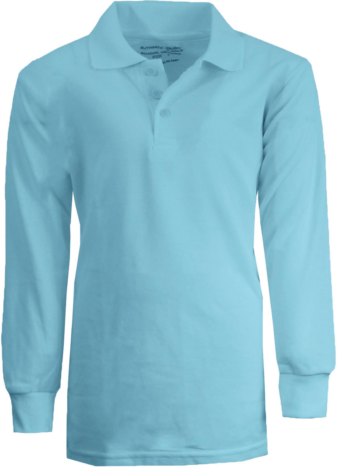 Wholesale boy 39 s light blue long sleeve pique polo shirts for Light brown polo shirt