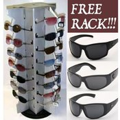 18 Dz Biker Choppers Sunglasses FREE Display Rack