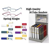 Spring Hinge Tube Reader Reading  Assorted Colors