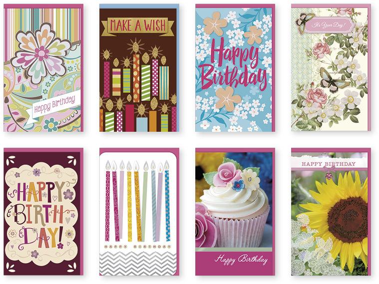 Handmade Female - Themed Birthday Single GREETING CARDS [1995459]