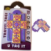 Purple & Yellow - Cross Luggage Tag