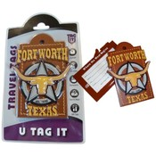 Fort Worth Star Steer Bag Tag Wholesale Bulk