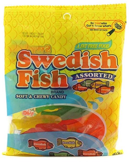 Wholesale swedish fish assorted peg bag candy 12 5 oz sku for Swedish fish bulk