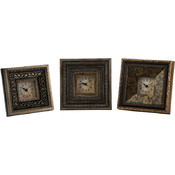 Regency 3 x 3 Framed Clocks - Set of 3