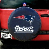 New England Patriots NFL Spare Tire Cover (Black)