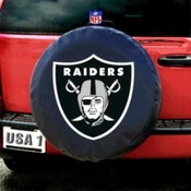 Oakland Raiders NFL Spare Tire Cover (Black)