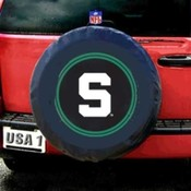 Michigan State Spartans NCAA Spare Tire Cover (Bla