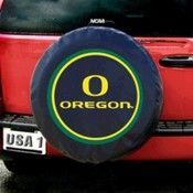 Oregon Ducks NCAA Spare Tire Cover (Black)