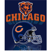 "Chicago Bears Light Weight Fleece NFL Blanket (Grid Iron) (50x60"")"""