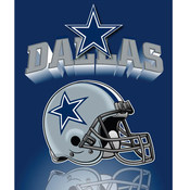Dallas Cowboys Light Weight Fleece NFL Blanket