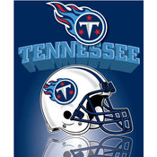 Tennessee Titans Light Weight Fleece NFL Blanket (Grid Iron) (50x60&quot;)&quot;