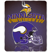 Minnesota Vikings Light Weight Fleece NFL Blanket