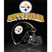 Pittsburgh Steelers Light Weight Fleece NFL Blanke