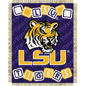 "Louisiana State Tigers (LSU) NCAA Triple Woven Jacquard Throw (044 Series) (36x48"")"""