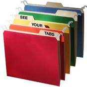 Find It Letter-Size Tab View Hanging File Folders, 20 Pack Assorted Wholesale Bulk