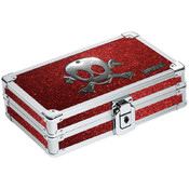 Pencil Box Ruby Bling Skull