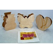 Set 3 Gold Foil Gift Bags