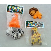 Jointed Jungle Erasers-Assorted