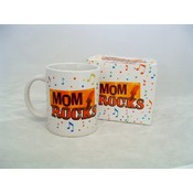 &quot;Mom Rocks&quot; Mug