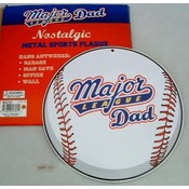 """Major League Dad"" Metal Sports Plaque"