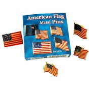 American Flag 4 Piece Metal Pin Set