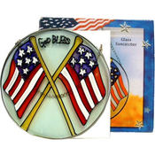&quot;God Bless&quot; Round Suncatcher