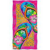 Beach Towel with Flip Flop Design 50 x 60 Inches