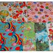 Birthday Flat Wrap Assortment-58sq ft Wholesale Bulk