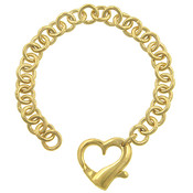 Heart Charm in Goldtone