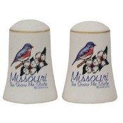 Missouri Salt and Pepper set Set Bisque