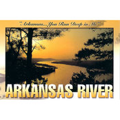 Arkansas Postcard 12156 Arkansas River Wholesale Bulk