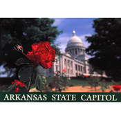 Arkansas Postcard 12189 State Capitol Rose Wholesale Bulk