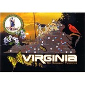 Virginia Postcard- State Map