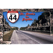 Missouri Postcard 12857 I-44 To Joplin
