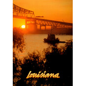 Louisiana Postcard 13209 I-10 Bridge Sunset