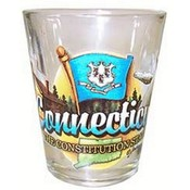 "Connecticut Shot Glass 2.25H X 2"" W Elements"