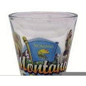 "Montana Shot Glass 2.25H X 2"" W Elements"